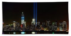 Tribute In Light From Bayonne Beach Towel by Nick Zelinsky