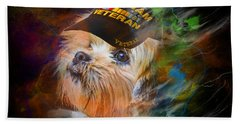 Tribute To Canine Veterans Beach Sheet
