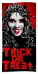 Trick Or Treat Beach Towel