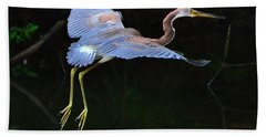 Tricolored Heron Beach Towel