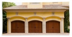 Triple Garage Doors Beach Sheet