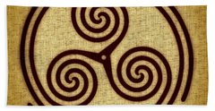 Triskelion  Beach Sheet by Olga Hamilton