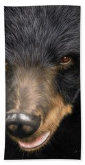 Trixie Moon Bear - In Support Of Animals Asia Beach Towel
