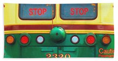 Trolley Car - Digital Art Beach Towel