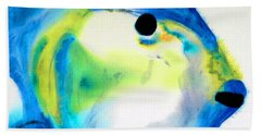 Tropical Fish 3 - Abstract Art By Sharon Cummings Beach Towel