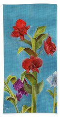 Beach Towel featuring the painting Tropical Flower by Thomas J Herring