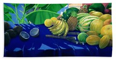 Tropical Fruit Beach Towel by Lincoln Seligman