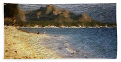 Beach Sheet featuring the digital art Tropical Getaway by Anthony Fishburne