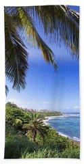 Tropical Holiday Beach Towel by Daniel Sheldon