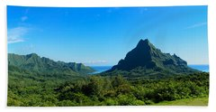 Tropical Moorea Panorama Beach Towel by IPics Photography