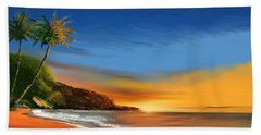 Beach Towel featuring the digital art Tropical Paradise by Anthony Fishburne