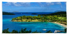 Beach Towel featuring the photograph Tropical Paradise In The Virgin Islands by Greg Norrell