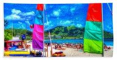 Tropical Sails Beach Towel