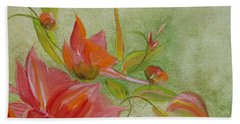 Beach Towel featuring the painting Tropical Splash by Judith Rhue