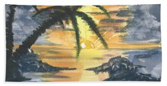 Tropical Sun Beach Towel