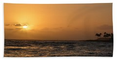 Tropical Sunset In Kauai Beach Towel