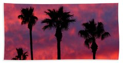 Tropical Sunset Beach Towel by Laurel Powell