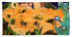 Tropical View Beach Towel by Christine Fournier