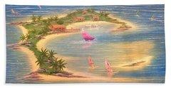 Tropical Windy Island Paradise Beach Towel
