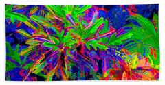 Beach Towel featuring the photograph Tropicals Gone Wild by David Lawson