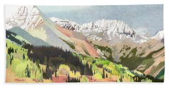 Trout Lake Colorado Beach Towel by Dan Miller