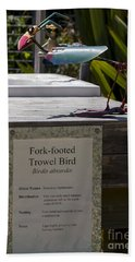 Trowel Bird Beach Towel