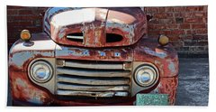 Ford In Goodland Beach Towel by Lynn Sprowl