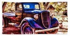 Beach Sheet featuring the painting Truck by Muhie Kanawati