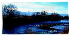 Beach Towel featuring the photograph Truckee River In Motion by Bobbee Rickard