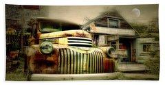 Truckyard Beach Towel by Diana Angstadt
