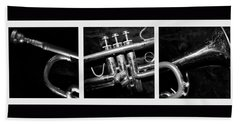 Trumpet Triptych Beach Sheet