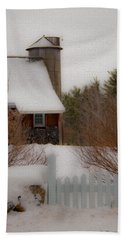Tuftonboro Farm In Snow Beach Sheet
