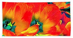 Beach Towel featuring the photograph Tulip 1 by Pamela Cooper
