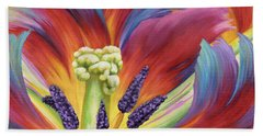 Tulip Color Study Beach Towel by Jane Girardot