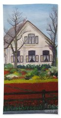 Tulip Cottage Beach Towel