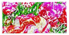 Tulip Infusion Beach Towel by Zafer Gurel