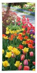 Tulip Path Beach Sheet