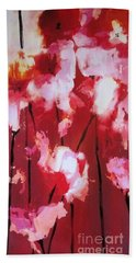 Beach Towel featuring the painting Tulip Twist by Sandra Strohschein