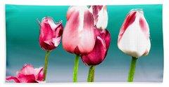 Beach Sheet featuring the digital art Tulips by Daniel Janda