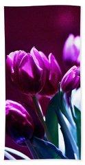 Tulips In Purple Beach Sheet
