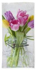 Tulips In A Jar Beach Sheet