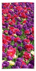 Tulips In A Meadow Beach Sheet
