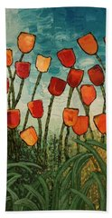 Tulips Beach Towel by Linda Bailey