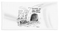 Tunnel Of The Next Three Weeks Beach Towel