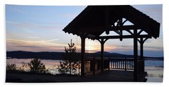 Tupper Lake Sunset Over Raquette Pond Beach Towel