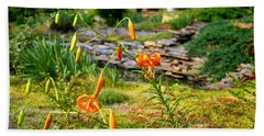Beach Sheet featuring the photograph Turk's Cap Lily by Kathryn Meyer