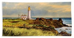Turnberry Golf Course 9th Tee Beach Towel