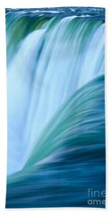 Turquoise Blue Waterfall Beach Towel