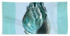 Turquoise Seashells V Beach Towel