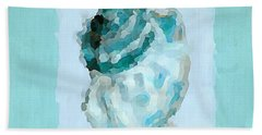 Turquoise Seashells Vi Beach Towel